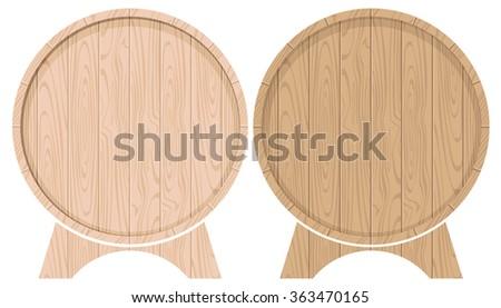 set vector drawing barrels for beer or wine #363470165