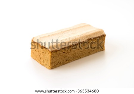 coffee cake on white background #363534680