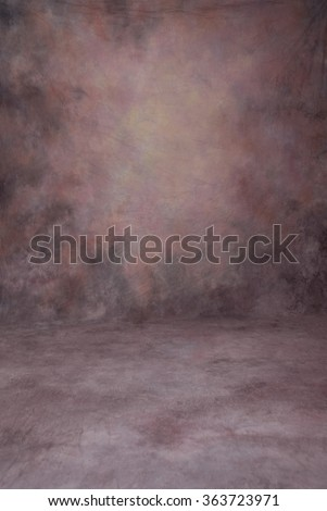 Painted cloth studio background of canvas or muslin, purple and pink dramatic color shades, floor area included, suitable for full length work.