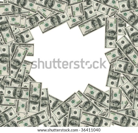 Dollars frame WITH CLIPPING PATCH #36411040