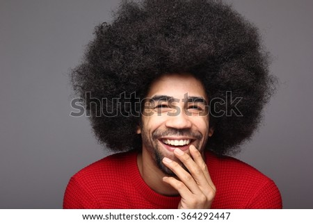 Funky afro man #364292447