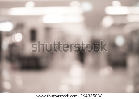 Blur image inside the shopping mall #364385036