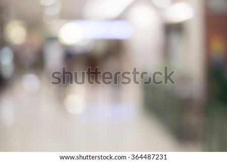 blurred image of shopping mall  #364487231
