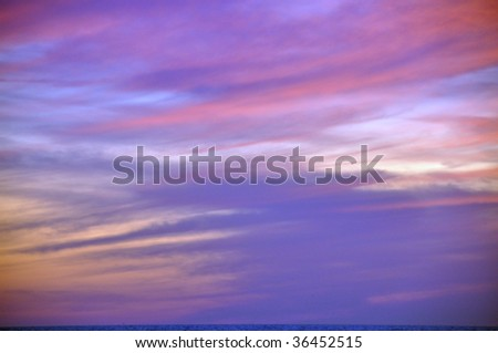 Sunset on sea seaside - background #36452515