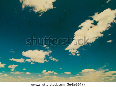 Retro sky and clouds background.  #364566497