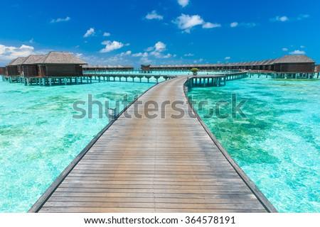 beautiful beach and tropical sea #364578191