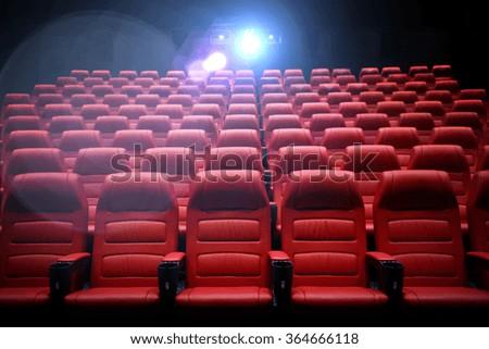 movie theater empty auditorium with seats #364666118