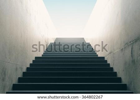 Stairs from underground upward Royalty-Free Stock Photo #364802267