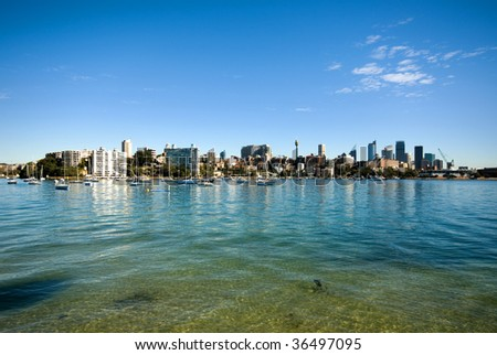 The crystal-clear waters of Rose Bay, Sydney Harbour, Australia #36497095