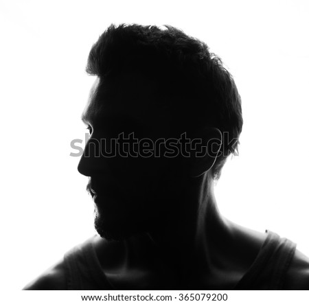 Hidden face in the shadow.male silhouette. #365079200