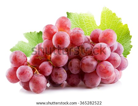 pink grapes isolated on the white background #365282522