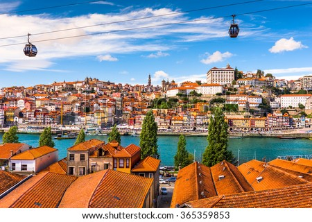 Porto, Portugal old town on the Douro River. Royalty-Free Stock Photo #365359853