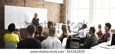 Business Team Training Listening Meeting Concept #365362820