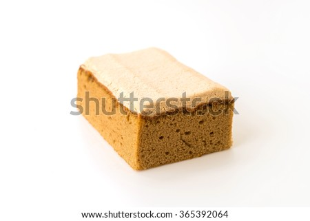 coffee cake on white background #365392064