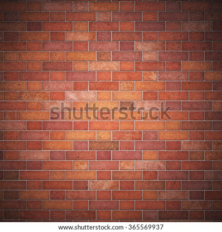 Digitally generated grunge red brick wall background with copy space  #365569937