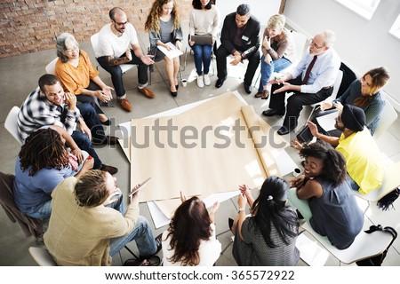 Team Teamwork Meeting Start up Concept Royalty-Free Stock Photo #365572922