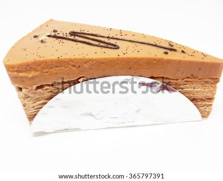 Orange cake isolated on white background #365797391