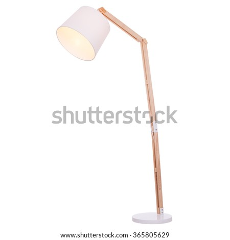 Floor lamp, isolated on white background. #365805629