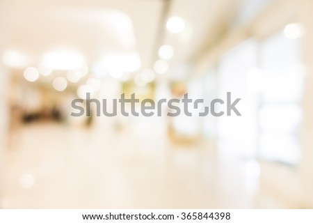 Abstract blur hospital interior for background Royalty-Free Stock Photo #365844398
