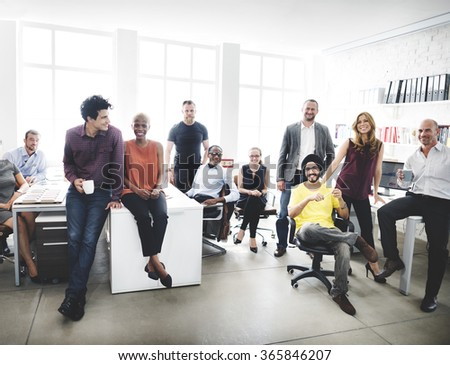 Cheerful Collaboration Colleagues Office Corporate Concept Royalty-Free Stock Photo #365846207