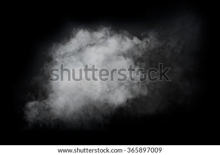 White smoke isolated on black background #365897009