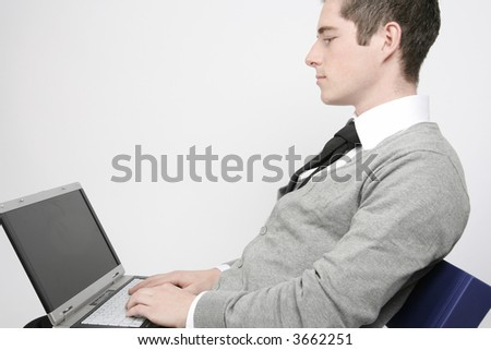 Businessman working on his laptop #3662251