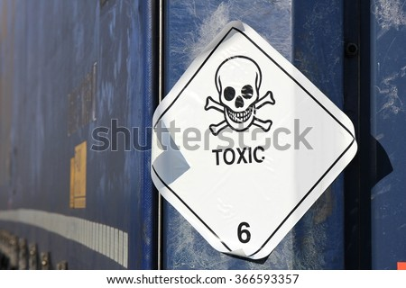 pictogram for chemical hazard: toxic substances