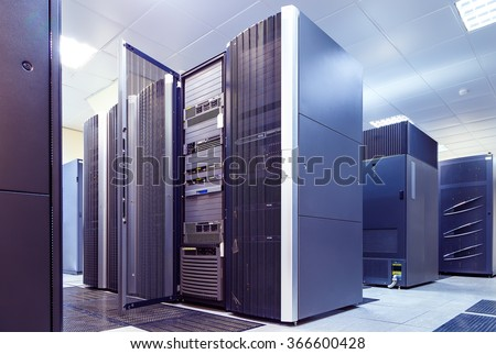 supercomputer clusters in the room data center