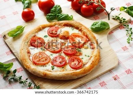 Fresh homemade Pizza Margherita #366742175