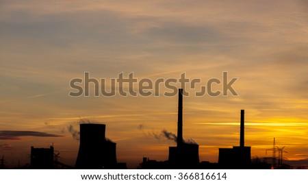 Heavy industrail - sunrise time. #366816614