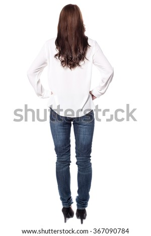 Turned around picture of girl in casual