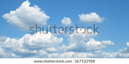 The vast blue sky and clouds sky #367102988