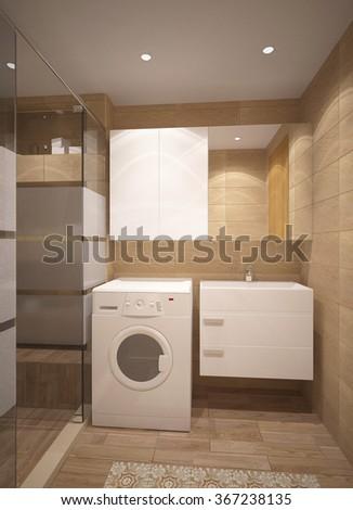 3d rendering of a bathroom interior design #367238135