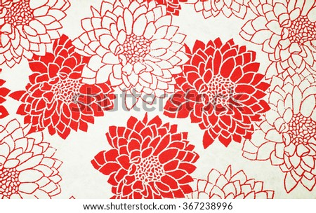 Flower pattern on Japanese paper  for  background