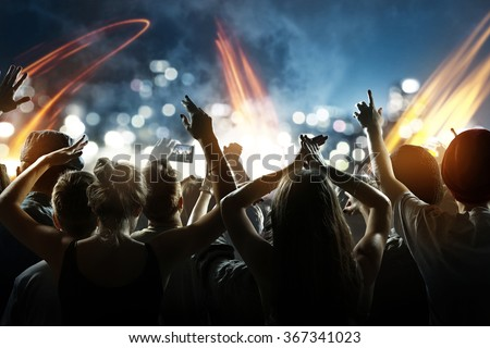 Crowd at a concert #367341023