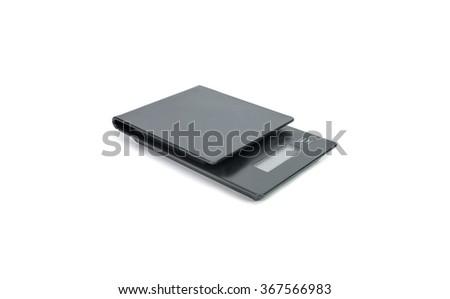 Digital kitchen scales on white background #367566983