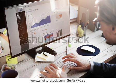 Businessman Working Dashboard Strategy Research Concept Royalty-Free Stock Photo #367579028