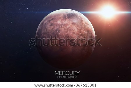 Mercury - High resolution images presents planets of the solar system. This image elements furnished by NASA.