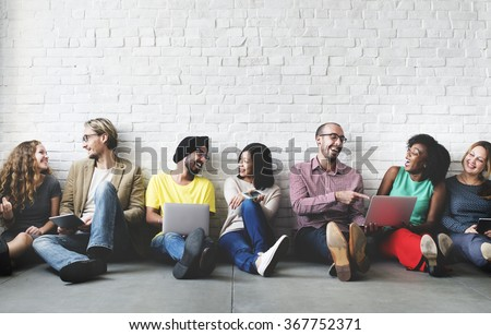 Digital Connection Technology Networking Team Concept #367752371