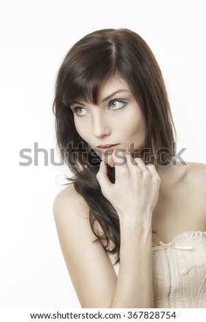 An image of a beautiful young woman portrait #367828754