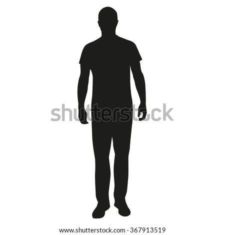 Man standing silhouette, people Royalty-Free Stock Photo #367913519