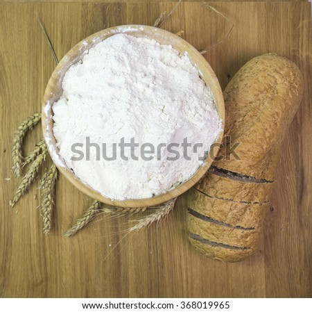 flour bread, wheat #368019965