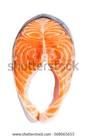 Salmon fillet slices #368065655