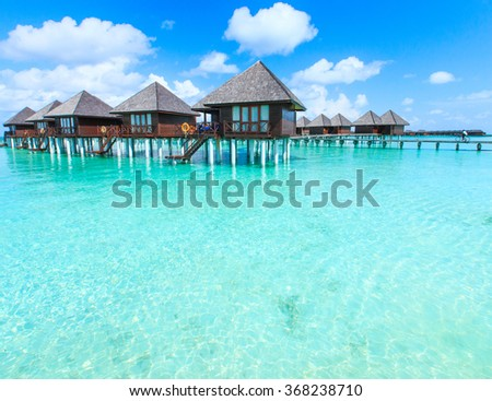 beautiful beach and tropical sea #368238710