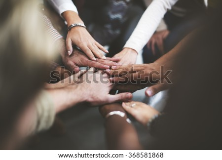 Teamwork Join Hands Support Together Concept #368581868