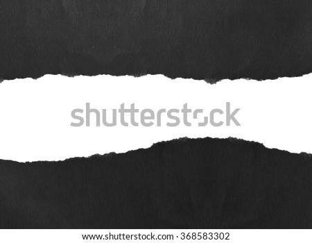 Ripped black paper, copy space #368583302