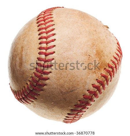 baseball with red stitching baseball isolated on white background #36870778