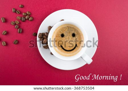 Good morning coffee cup background