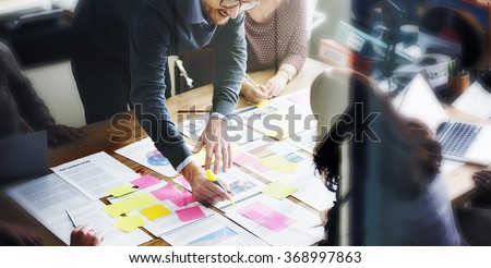 Business People Planning Strategy Analysis Office Concept Royalty-Free Stock Photo #368997863