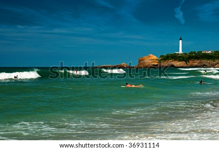 The beach in Biarritz France #36931114